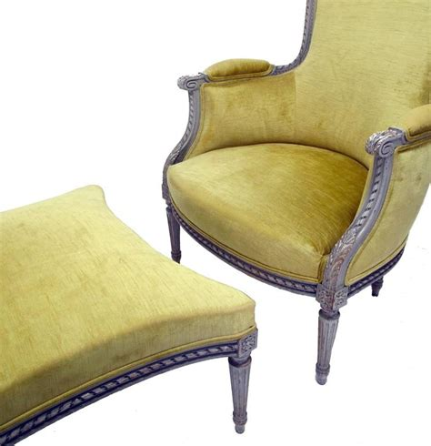 bergere chair and ottoman french bergere chair with ottoman for sale at 1stdibs