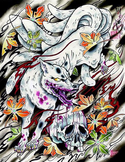 9 tailed fox tattoo morey kyubi no kitsune nine tailed fox