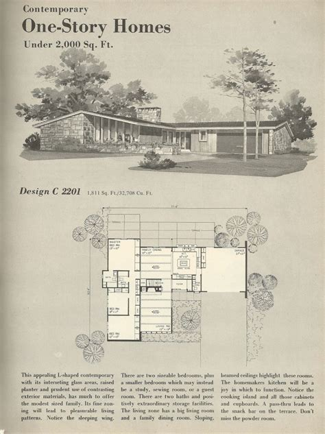 1960s house plans vintage house plans 1960s homes mid century homes for