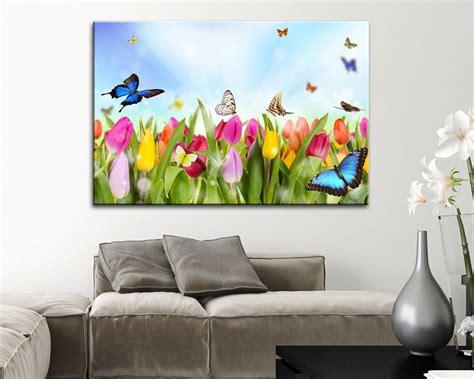 fiori su tela tulipani e farfalle fiori sta su tela