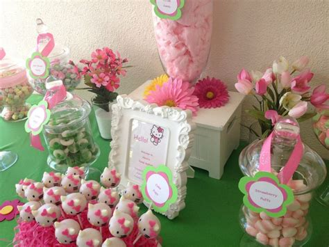 1000 Images About Hello Kitty Candy Buffet On Pinterest Pink And Green Buffet