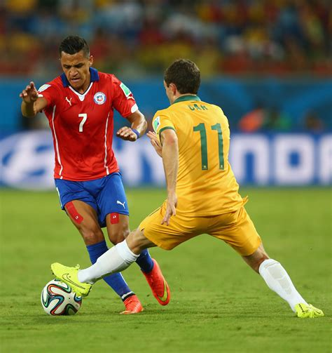 alexis sanchez dribbling alexis sanchez photos photos chile v australia group b