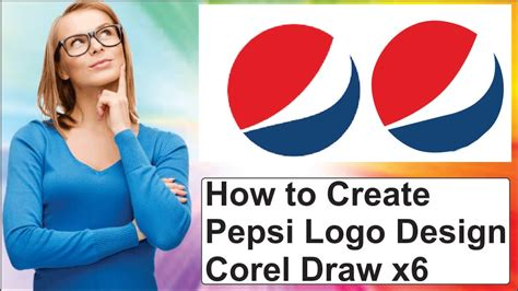 corel draw pepsi logo tutorial how to create pepsi logo design corel draw x6 youtube
