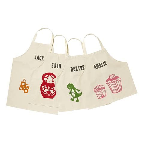 printed children s personalised aprons by 3 blonde bears