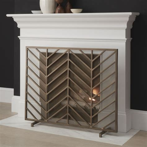fireplace display chevron brass fireplace screen in fireplace accessories