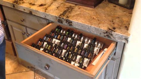 essential oil storage cabinet cool trick for storing organizing your doterra essential