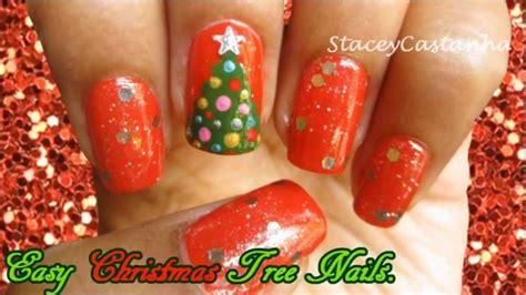 easy christmas nail art youtube christmas nail art easy christmas tree nail art tutorial