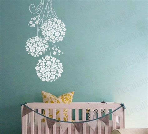 Removable Wall Decals Nursery Wall Decals Nursery Room Flower Floral Swirl Removable Vinyl Stickers White Ebay