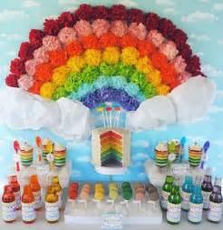 decoraci 243 n e ideas para una fiesta de cumplea 241 os de arco 237 ris