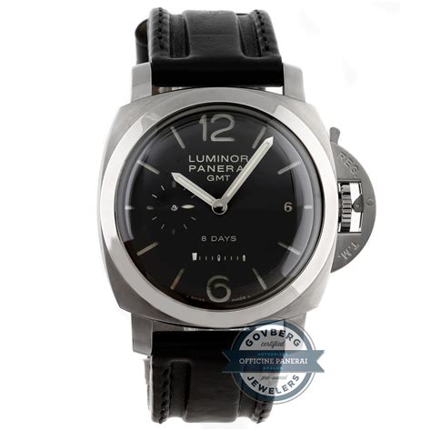Luminor Panerai Gmt Leather panerai luminor 1950 8 days gmt ss manual 44mm blk