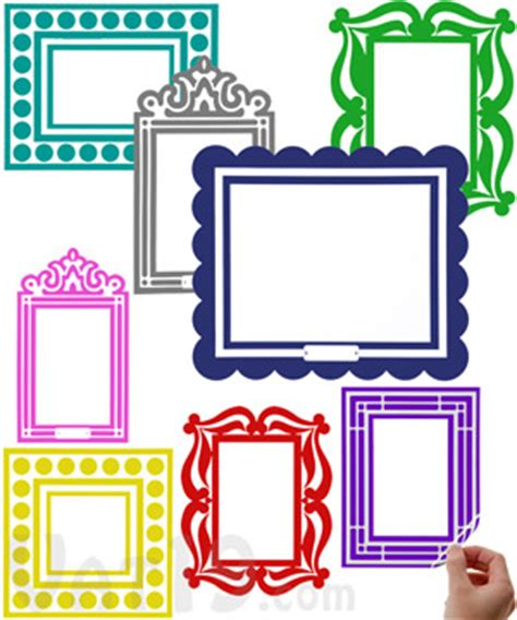 colored picture frames stick r frames removable and reusable sticker picture frames