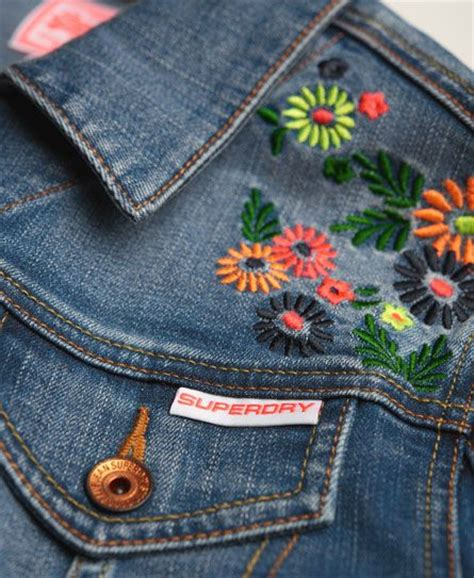 embroidery denim 25 best ideas about embroidered denim jacket on