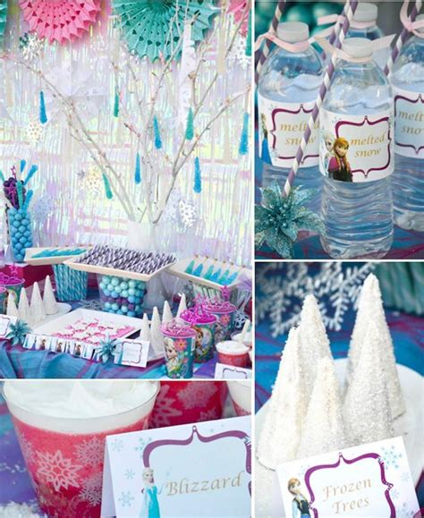 frozen birthday theme decorations kara s ideas disney s frozen themed birthday