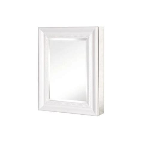 White Framed Recessed Medicine Cabinet pegasus 20 in x 26 in mirrored recessed or surface mount