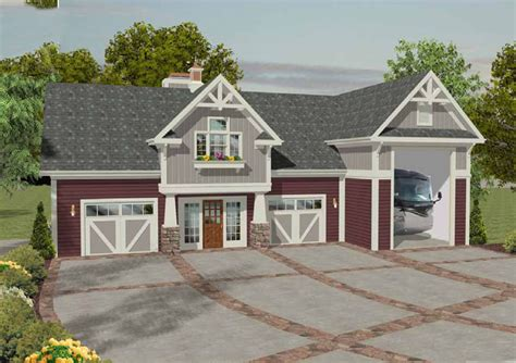 home plans with rv garage rv garage with observation deck 20083ga architectural