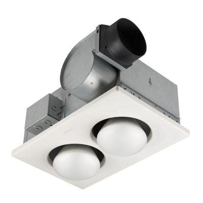70 cfm ceiling exhaust fan with 2 250 watt infrared bulb
