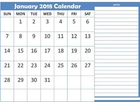 printable january 2018 calendar cute january 2018 calendar cute printable
