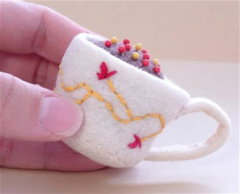 felt teacup pattern diy felt projects for the weekend design inspiration
