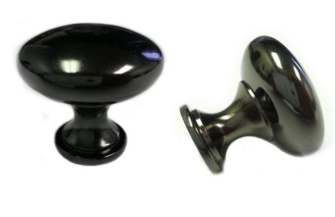 Black Kitchen Cabinet Handles 25pcs Black Nickel Kitchen Cabinet Knobs 30mm 1 1 4 Quot Ebay