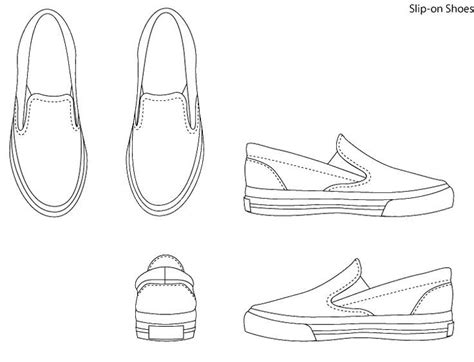 shoe drawing template shoe template of the jets