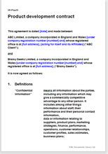 template product development agreement template software contract