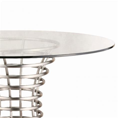 brushed stainless steel and glass dining table ibiza brushed stainless steel dining table with clear glass
