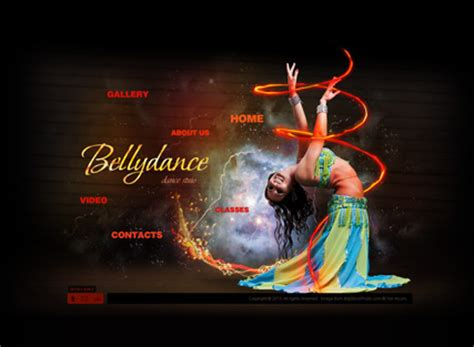 bellydance dynamic video gallery flash template html5