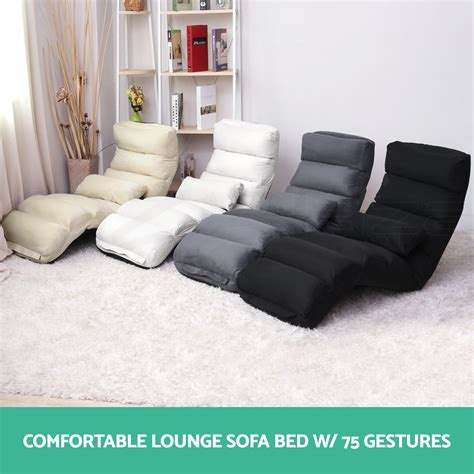 lounger sofa bed lounge sofa bed floor recliner folding chaise chair adjustable foldable ebay
