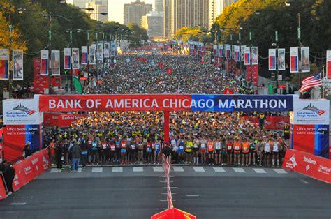 chicago marathon map the economic impact of the bank of america chicago