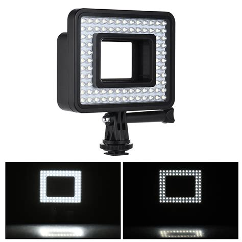 gopro led light ring andoer action camera led ring light dimmable 80pcs bead