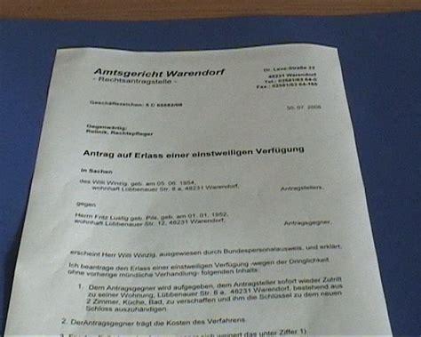 Vorlage Antrag Zwangsvollstreckung fenstertitel einstweilige verf 252 gung