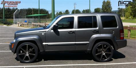black jeep liberty with black rims jeep liberty niche verona m150 wheels black machined