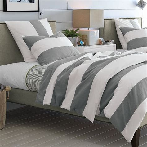 Gray Stripe Comforter by Bright Smile Hi Low Grey Bedding