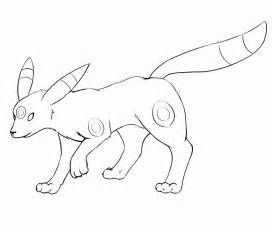 umbreon coloring page az coloring pages