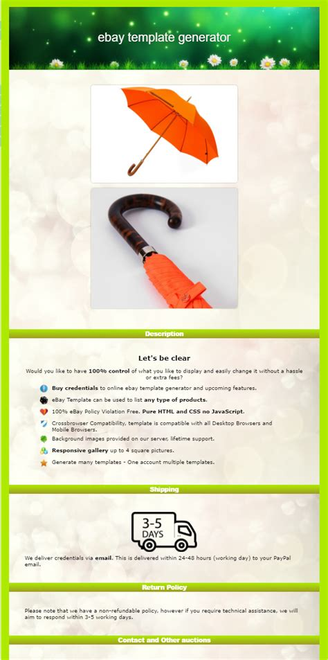 Ebay Html Template Generator Ebay Template Creator Software