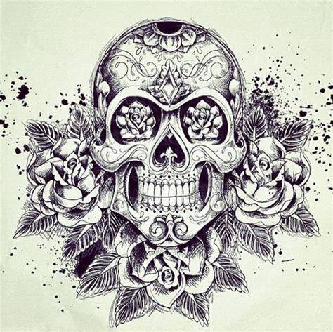 sugar skull and rose tattoo sugar skull w roses tattoos sugar