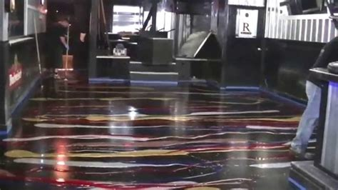 glitter epoxy floor in ohio pouring the glitter on the concrete floor youtube