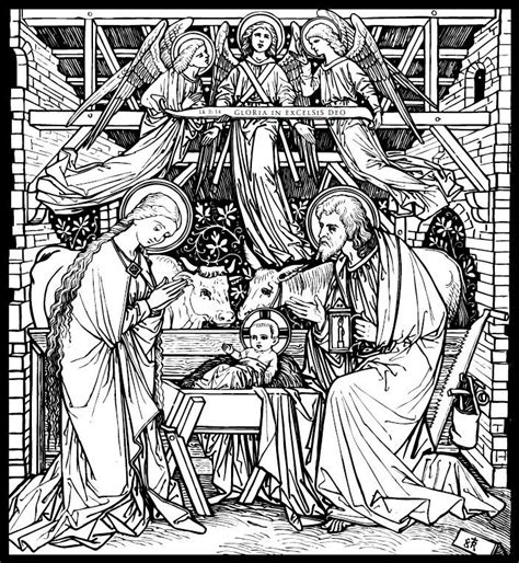 catholic nativity scene coloring pages 584 best religious line art images on pinterest