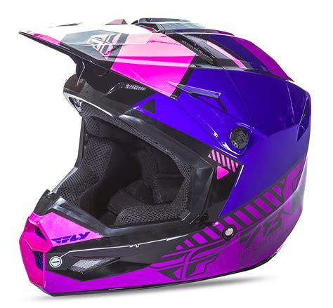 purple motocross helmet elite onset pink purple black helmet fly racing