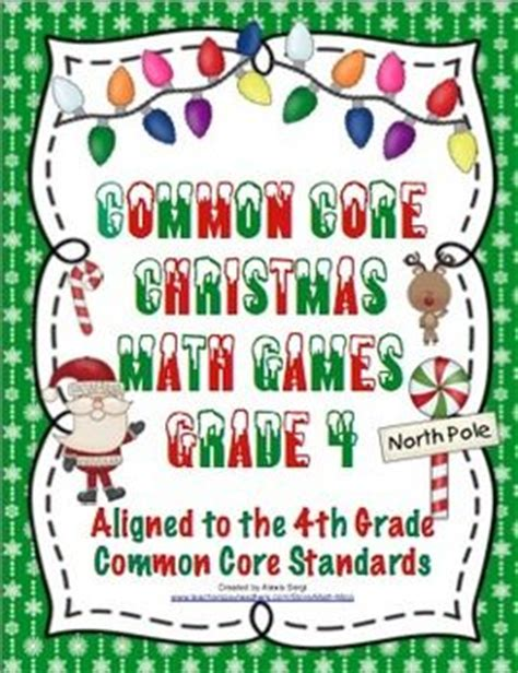 christmas math 4th grade seasons student and math