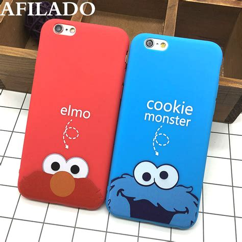 Cookie Iphone 6 Cover fashion cookie elmo soft tpu slim back covers for iphone 6 6s 5 5s se