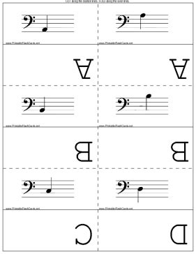 Musical Staff Lines Only On Flash Cards Template by Bass Clef Flash Cards