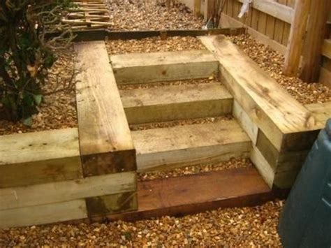 ponds using railway sleepers retaining wall below was