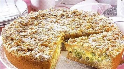 bild der frau rezepte kuchen stachelbeer streusel kuchen bild der frau