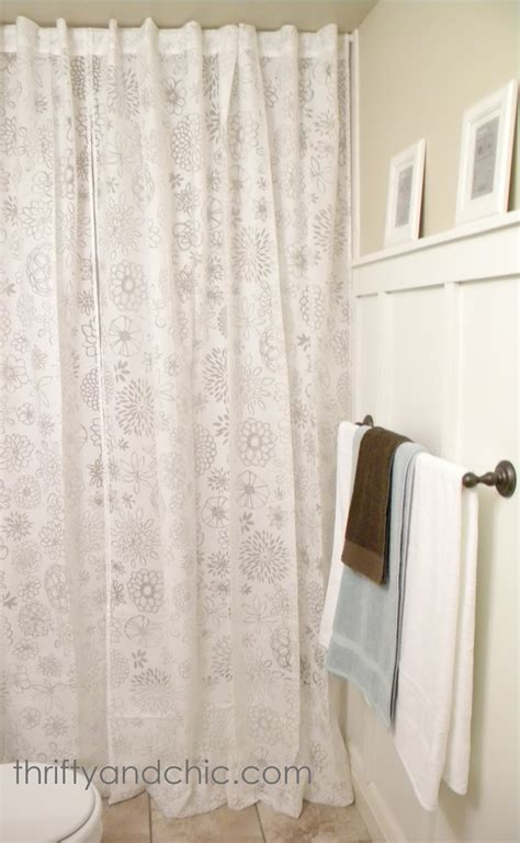 how tall is a shower curtain thrifty and chic diy projects and home decor