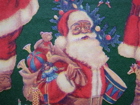 craft supply gift wrapping paper african american santa with