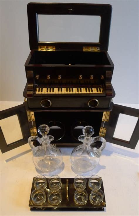 antique novelty automated miniature musical liquor