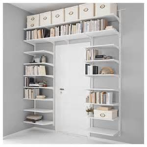 Open Shelving Kitchen Ideas Algot Shelving Unit White 220x40x196 Cm Ikea Hallway And