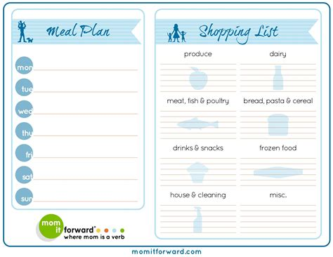 printable planner chart free 30 day meal plan printable meal planning made easy