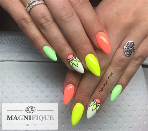 Nägel Muster by Neon Nails N 228 Gel Neonowe Paznokcie Naildesign Nailart